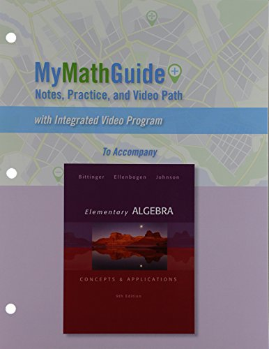 9780321868374: MyMathGuide for Elementary Algebra: Concepts & Applications Plus NEW MyMathLab with Pearson eText -- Access Card Package (9th Edition)