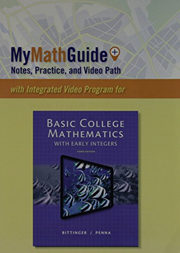9780321868633: MyMathGuide: Notes, Practice, and Video Path for Basic College Mathematics with Early Integers