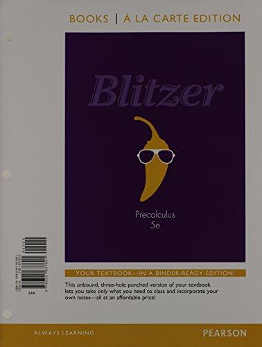 Precalculus, Books a la Carte Edition Plus: Robert F. Blitzer