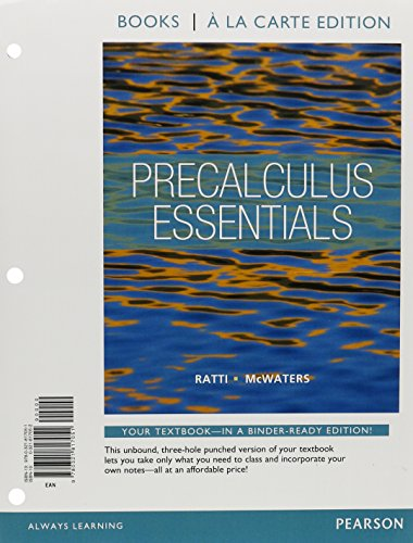 9780321869395: Precalculus Essentials, Books a la Carte Edition plus NEW MyMathLab with Pearson eText -- Access Card Package