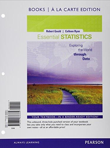 Essential Statistics Mystatlab: Robert Gould