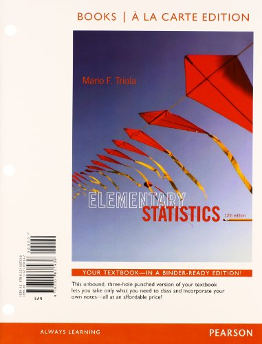9780321869470: Elementary statistics + mystatlab with pearson etext access card package - Books a la Carte