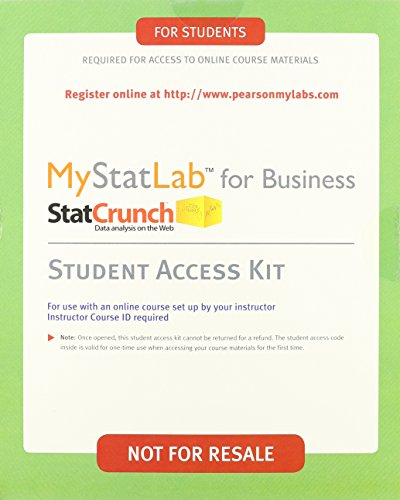 Business Statistics, Student Value Edition Plus NEW MyStatLab with Pearson eText -- Access Card ...
