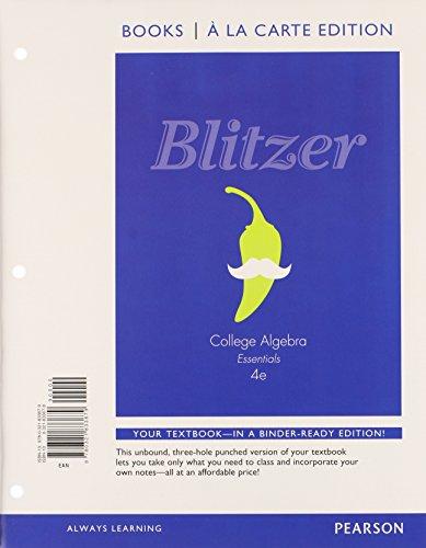 College Algebra Essentials, Books a la Carte