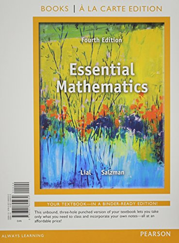 Essential Mathematics, Books a la Carte Edition Plus NEW MyMathLab with Pearson eText with Pearson ...