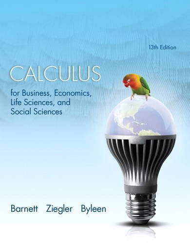 9780321869838: Calculus for Business, Economics, Life Sciences, and Social Sciences (13th Edition)