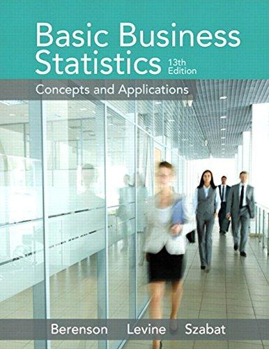 9780321870025: Basic Business Statistics (13th Edition)