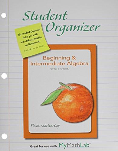 9780321871626: MyMathLab for Beginning & Intermediate Algebra --Access Card-- PLUS Student Organizer (6th Edition)