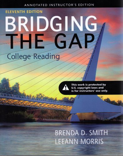 9780321871930: Bridging the Gap, 11/e, Annotated Instructor's Edition