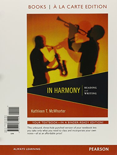 9780321871992: In Harmony: Reading and Writing, Books a la Carte Edition
