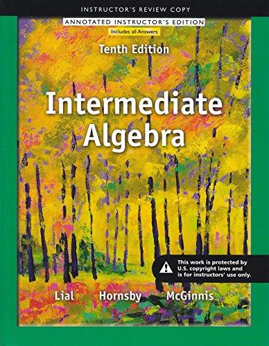 9780321872197: Intermediate Algebra Annotated Instructors Edition Tenth Edition