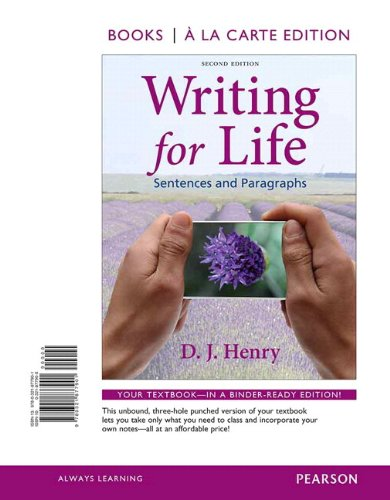9780321877956: Writing for Life: Sentences and Paragraphs, Books a la Carte Plus MyWritingLab with eText -- Access Card Package (2nd Edition)