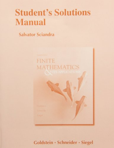 9780321878311: Student's Solutions Manual for Finite Mathematics & Its Applications