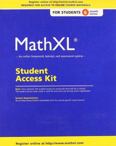 9780321878359: MathXL Standalone Access Card (6-month access)