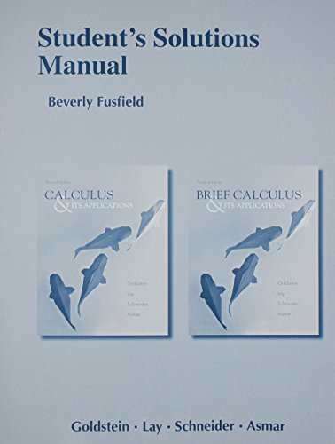 9780321878571: Student Solutions Manual for Calculus & Its Applications and Brief Calculus & Its Applications
