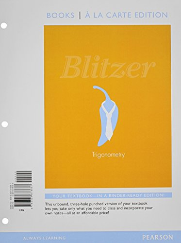 9780321878687: Trigonometry, Books a la Carte Edition