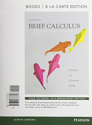9780321878717: Brief Calculus & Its Applications, Books a la Carte Edition (13th Edition)