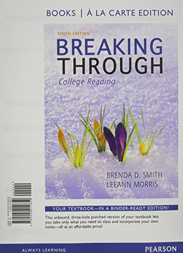 9780321879400: Breaking Through: college Reading, Books a la Carte Plus NEW MyReadingLab with eText -- Access Card Package (10th Edition)