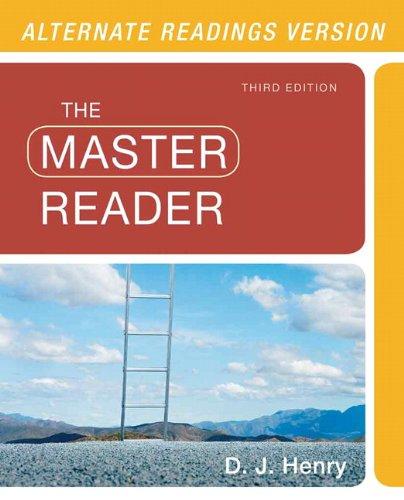 9780321880345: The Master Reader, Alternate Edition (3rd Edition)