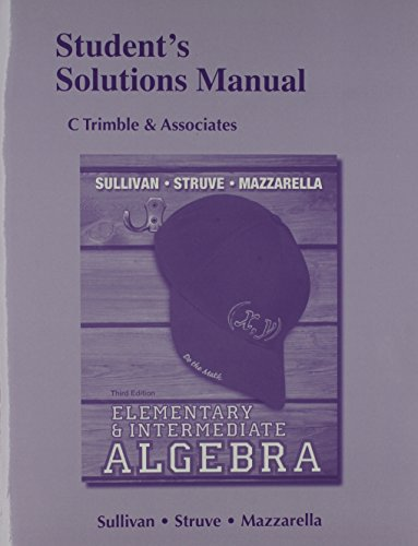 9780321881328: Student Solutions Manual for Elementary & Intermediate Algebra