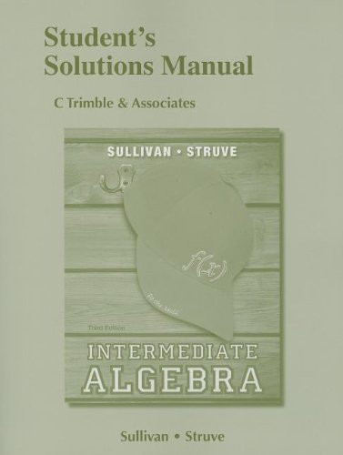 9780321881359: Student's Solutions Manual for Intermediate Algebra