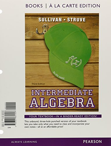 9780321881397: Intermediate Algebra, Books a la Carte Edition (3rd Edition)