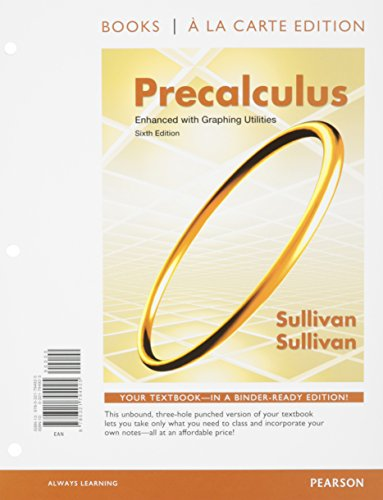 9780321881502: Precalculus Enhanced with Graphing Utilites, Books a la Carte Edition and MathXL -- Valuepack Access Card (24-month access (6th Edition)