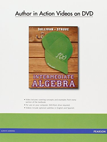 9780321881571: Author in Action Videos on DVD for Intermediate Algebra