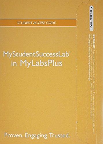 9780321884978: NEW MyStudentSuccessLab Plus 2012 Update -- Standalone Access Card