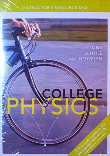 9780321888976: PEARSON College Physics: Instructor's Resource DVD