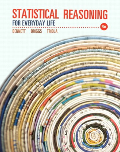 9780321890139: Statistical Reasoning for Everyday Life Plus NEW MyStatLab with Pearson eText -- Access Card Package (4th Edition) (Bennett Science & Math Titles)