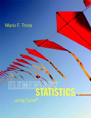 Elementary Statistics Using Excel Plus: Triola, Mario F.