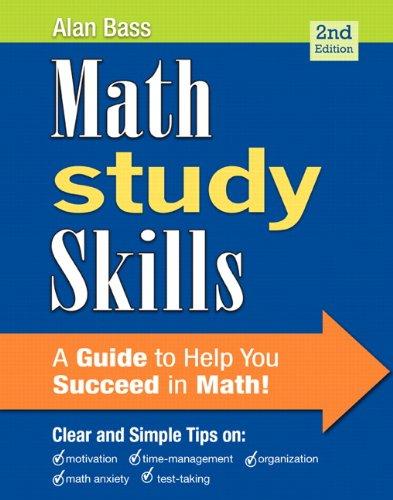 9780321893079: Math Study Skills (2nd Edition) (Study Skills in Developmental Math)