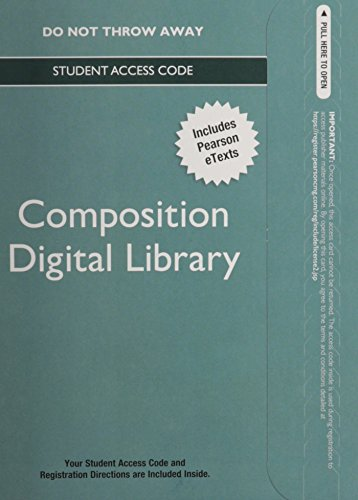 9780321893338: Digital Library -- Standalone Access Card -- for Composition Collection