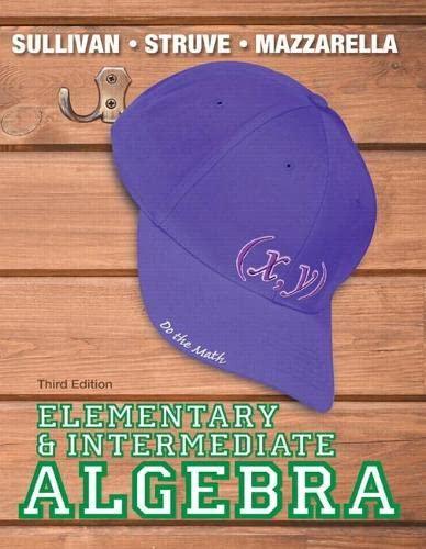 9780321894168: Elementary & Intermediate Algebra Plus NEW MyMathLab with Pearson eText -- Access Card Package (3rd Edition) (Sullivan, Struve & Mazzarella, Developmental Math Series)