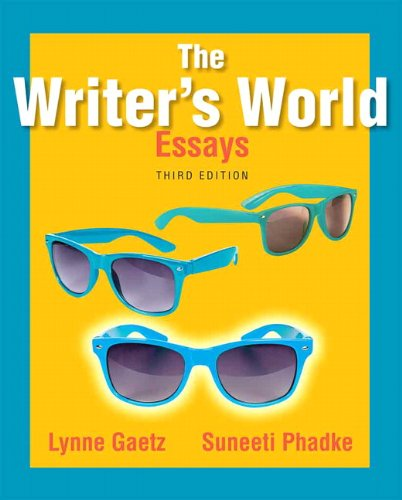 The writer world essays answers