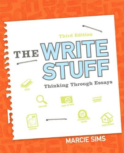 9780321899880: The Write Stuff: Thinking Through Essays (3rd Edition)