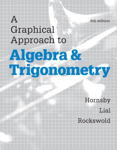 9780321900227: Graphical Approach to Algebra and Trigonometry, A, Plus MyMathLab with eText-- Access Card Package (6th Edition) (Hornsby/Lial/Rockswold Graphical Approach Series)
