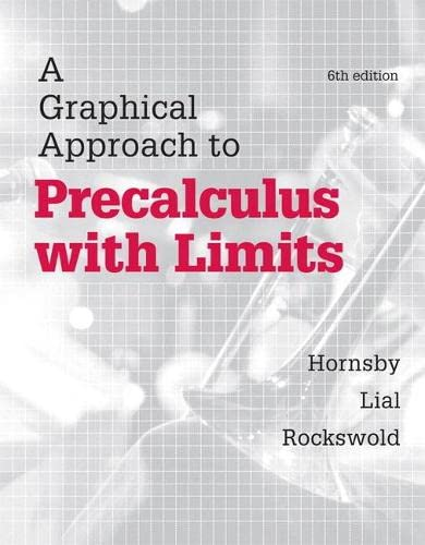 9780321900821: A Graphical Approach to Precalculus with Limits (6th Edition)