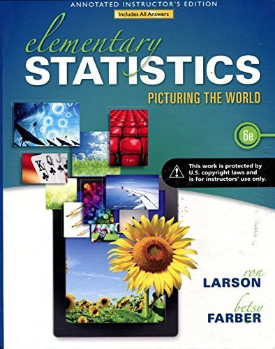 9780321901101: Elementary Statistics Picturing the World 6ed AIE