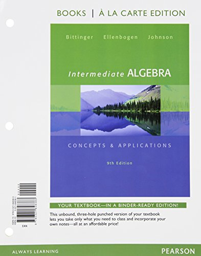 9780321901170: Intermediate Algebra, Books a la Carte edition, Plus MyMathLab -- Access Card Package (9th Edition)