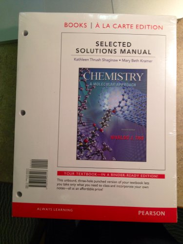 9780321903228: Selected Solutions Manual for Chemistry: A Molecular Approach, Books a la Carte Edition