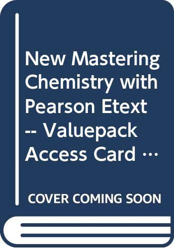 9780321903549: New MasteringChemistry with Pearson Etext -- Valuepack Access Card -- for Conceptual Chemistry