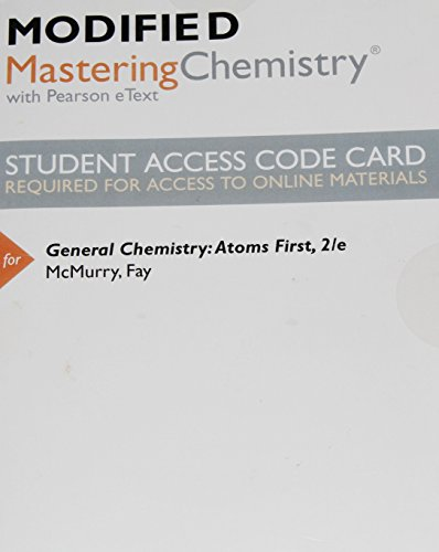 9780321903594: New MasteringChemistry with Pearson Etext -- Valuepack Access Card -- for General Chemistry: Atoms First