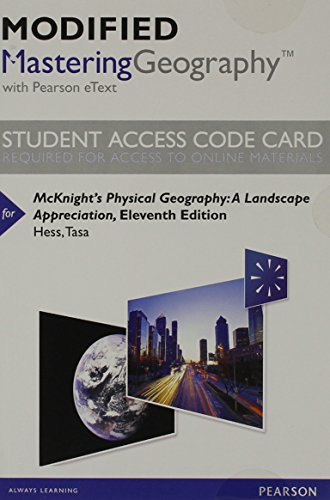 Modified MasteringGeography with Pearson eText -- Standalone: Hess, Darrel; Tasa,