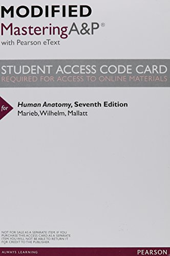 9780321906380: New MasteringA&P with Pearson Etext -- Valuepack Access Card -- for Human Anatomy