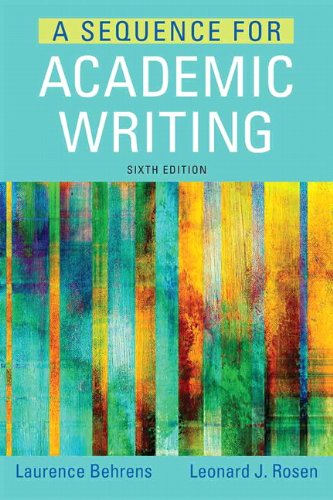 9780321906816: A Sequence for Academic Writing (6th Edition)