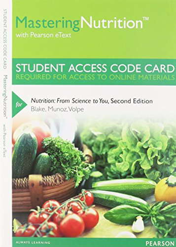 9780321909046: MasteringNutrition with MyDietAnalysis with Pearson eText -- Standalone Access Card -- for Nutrition: From Science to You (2nd Edition)