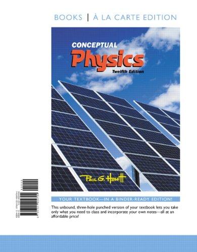 9780321909794: Conceptual Physics, Books a la Carte Edition (12th Edition)