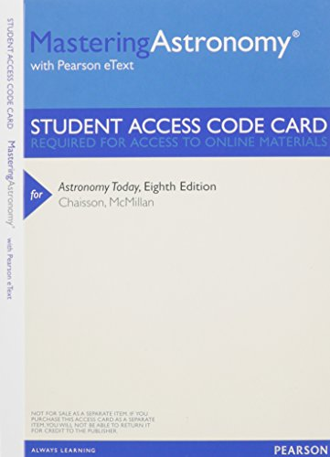 MasteringAstronomy with Pearson Etext -- Valuepack Access Card -- for Astronomy Today (0321909860) by Eric J. Chaisson; Steve McMillan